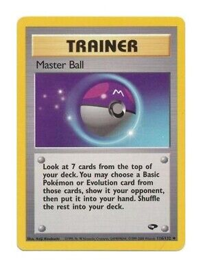 Master Ball 116/132 Gym Challenge Unlimited Pokemon Card NM