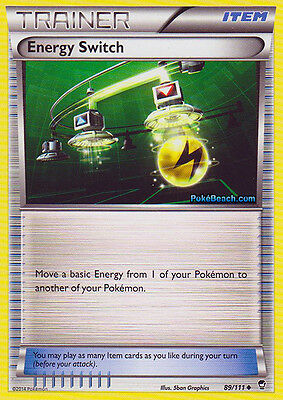 Energy Switch 89/111 - Xy Furious Fists Pokemon Trainer Card - In Stock Now!