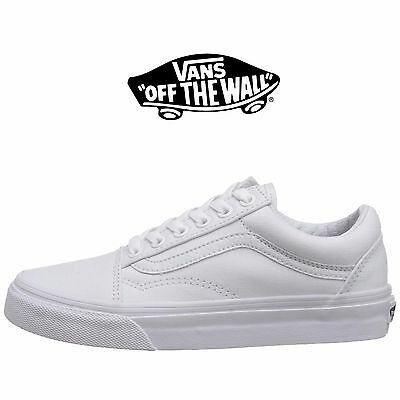 f696220263c Mens Vans Old Skool Fashion Sneaker Core Classic White Canvas Suede All  Size NEW