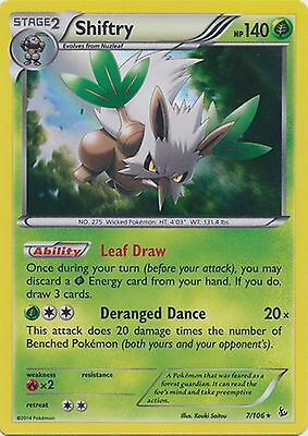 Shiftry 7/106 XY Flashfire HOLO PERFECT MINT! Pokemon