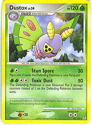 Dustox 25/130 Diamond & Pearl RARE MINT! Pokemon
