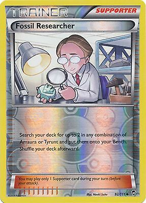 Fossil Researcher 92/111 XY Furious Fists REVERSE HOLO PERFECT MINT! Pokemon