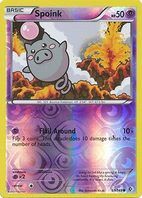 Spoink 59/149 B&W Boundaries Crossed REVERSE HOLO PERFECT MINT! Pokemon