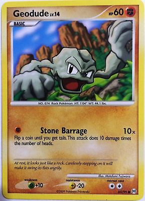 Geodude 65/99 Platinum Arceus Common PERFECT MINT! Pokemon