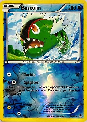 Basculin 25/98 B&W Emerging Powers REVERSE HOLO PERFECT MINT! Pokemon