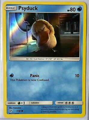 NEW Pokemon Psyduck 7/18 Holo Foil Card Detective Pikachu Expansion Set