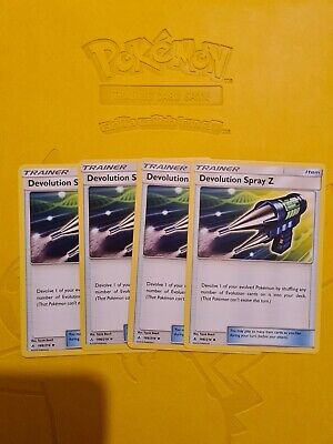 Pokemon TCG - Devolution Spray z Trainer x 4 Unbroken Bonds 166/214