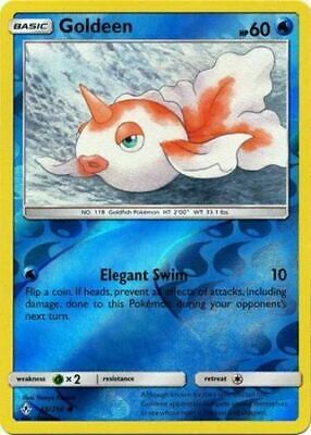 Goldeen 48/214 S&M Unbroken Bonds REVERSE HOLO PERFECT MINT! Pokemon