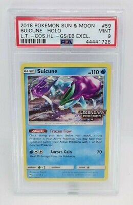 2018 Pokemon Lost Thunder 59 Suicune Holo Cosmos Exclusive PSA 9 LOW POP