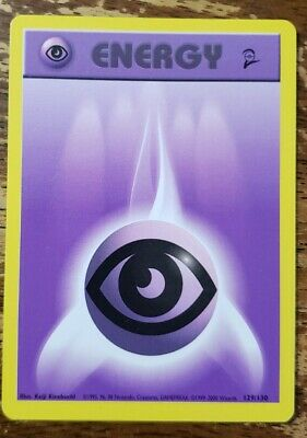 Psychic Energy Pokemon Card from 2nd base set NM/LP 129/130
