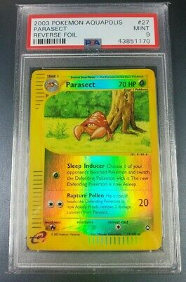 Pokemon PSA 9 Parasect Reverse Holo Aquapolis Set 27/147 Mint