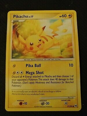 Pokemon Pikachu - 71/99 - Platinum Arceus - Common - VLP