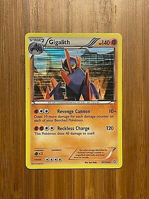 Pokemon Rare Foil Gigalith Dragons Exalted #67/124 NM