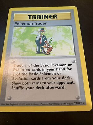 Pokémon Trader Shadowless 77/102 Pokemon Base Set