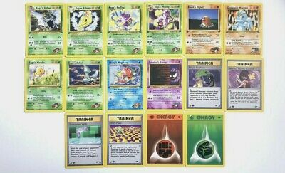 Pokemon Cards Gym Challenge 1st Edition -2000- Rare - Holo - Nr Mint -You Choose