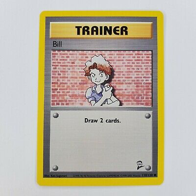 Pokemon Base Set 2 Trainer Bill LP 118/130 TCG Trading Card Game 2000