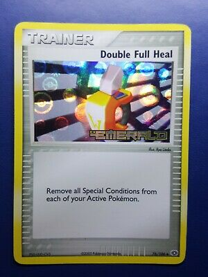 Double Full Heal 76/106 Reverse Holo Stamped Pokemon Card EX Emerald 2005 - Ex