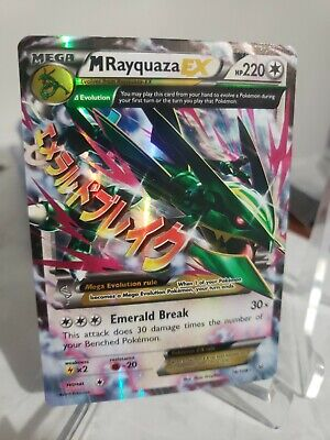 MEGA M Rayquaza EX 76/108 XY Roaring Skies Ultra Rare Legendary Pokemon - NM