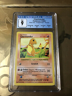 Pokemon - Shadowless Charmander 46/102 Base Set CGC 9 Mint w/ Sub Grades (PSA)