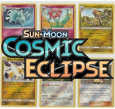 Pokemon Cosmic Eclipse Reverse Holos - Singles - NM