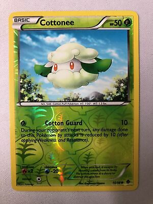 Cottonee 10/98 B&W Emerging Powers Reverse Holo Common Pokemon Card NM