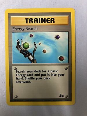 Energy Search 59/62 Fossil Set Common Pokemon Card Near Mint