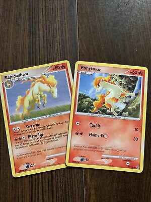 Pokemon Cards-Diamond and Pearl-Ponyta and Rapidash