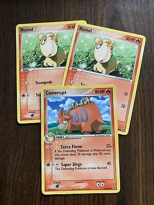 Pokemon Cards-EX Emerald-2 Numel and 1 Camerupt