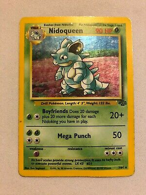 Nidoqueen 7/64 Jungle Holo Rare Pokemon Card Lightly Played LP