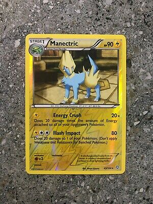 Pokemon TCG Cards Manectric 43/124 Dragons Exalted Reverse Holo Rare