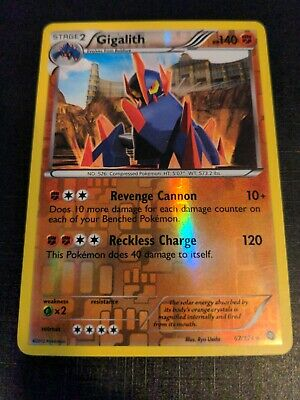 Pokemon GIGALITH 67/124 Dragons Exalted RARE REVERSE HOLO - NM