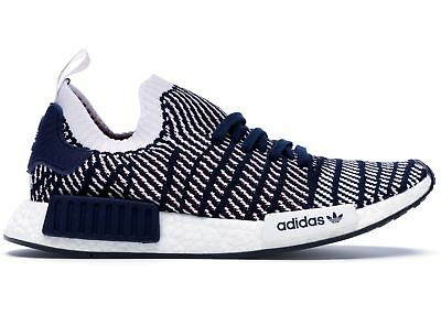 aa187b8dc NEW Adidas NMD R1 STLT PK Primeknit Mens Running Shoes Blue White Red D96821