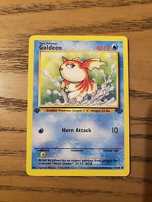 Pokemon Goldeen 53/64 1st Edition Jungle Set Common Card Mint