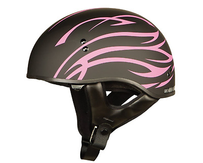 f56127a2 GMAX GM65 NAKED HALF HELMET FLAT BLACK EXTRA LARGE MOTORCYCLE PINK WOMENS