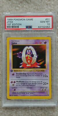 Pokemon Jynx 31/102 1st Edition Base Set PSA 10 1999 Pokemon Game Shadowless