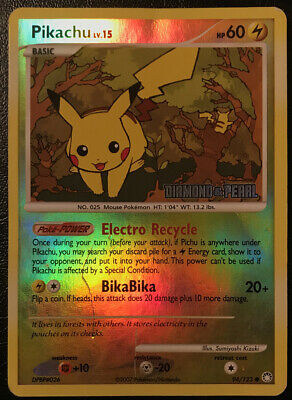 Pokemon Mysterious Treasures Pikachu 94/123 Reverse Holo Heavily Damaged!