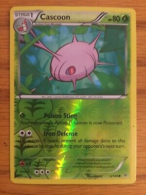 Cascoon 6/108 Pokemon XY Roaring Skies-  Reverse Holo