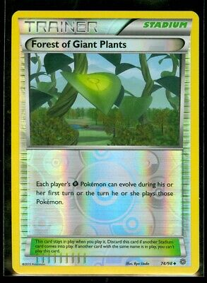 Pokemon FOREST OF GIANT PLANTS 74/98 - XY Ancient Origins - Rev Holo - MINT