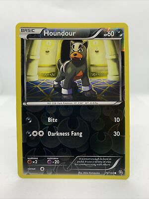 2012 Houndour Holo Rare Reverse Dragons Exalted Pokemon Card NM 74/124