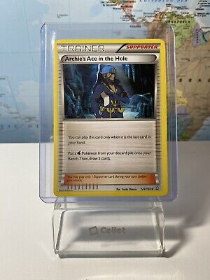 1x - Archie's Ace in the Hole - 124/160 - Uncommon NM Pokemon Primal Clash