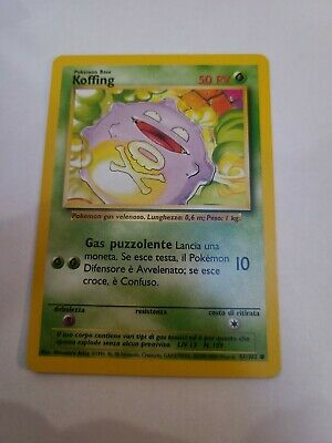 KOFFING - Base Set - 51/102 - Common - Pokemon Card - Unlimited Edition - NM
