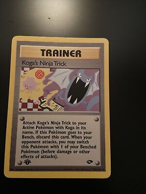 Pokemon -1ST EDITION KOGA'S NINJA TRICK 115/132 - Gym Challenge - Uncommon - NM