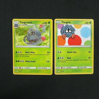 Tangrowth 2/214 Rare Tangela 1/214 Lost Thunder Pokemon Card TCG