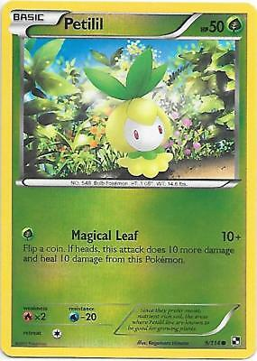 PETILIL 9/114 Black & White Reverse Holo Pokemon Card   EX