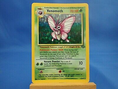 Pokemon Venomoth Jungle Holo Foil Shiny 13/64
