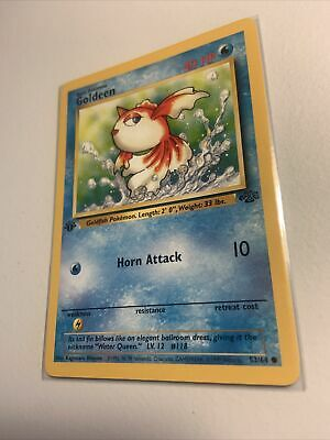 Vintage 1999 Pokemon Goldeen 1st Edition Jungle Card # 53/64