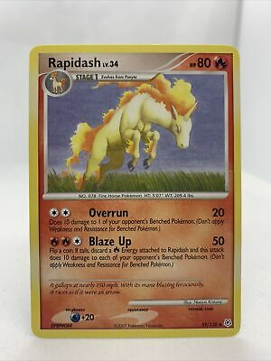 Rapidash 2007 Diamond And Pearl Set 59/130 NM Pokemon Card Rare