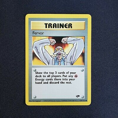 Pokemon Trainer Fervor 124/132 Gym Challenge Set WotC 2000 Near Mint Vintage
