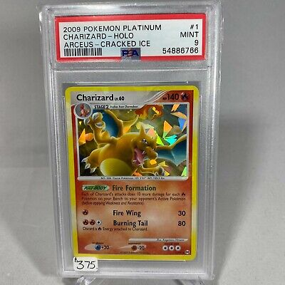 2009 Pokemon Arceus Charizard #1 Holo-Cracked Ice PSA 9 MINT