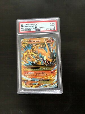 2014 Pokemon M Charizard EX 107/106 Flashfire SECRET RARE XY PSA 9